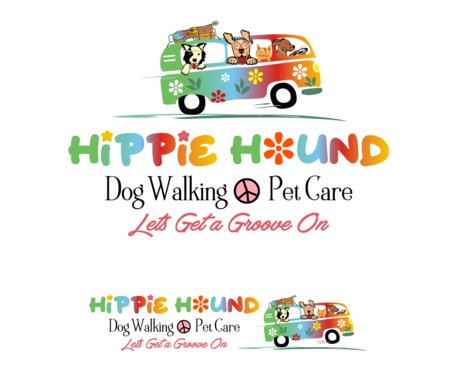 Hippie Hound Logo Winning Design by simpleway