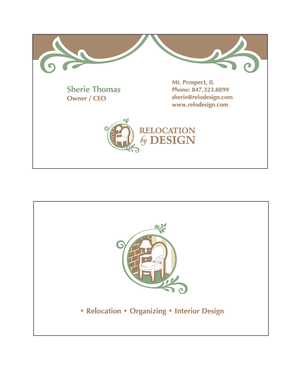 Business card for senior move management company Business Cards and Stationery  Draft # 73 by cinco