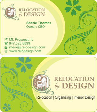 Business card for senior move management company Business Cards and Stationery  Draft # 75 by riyaz