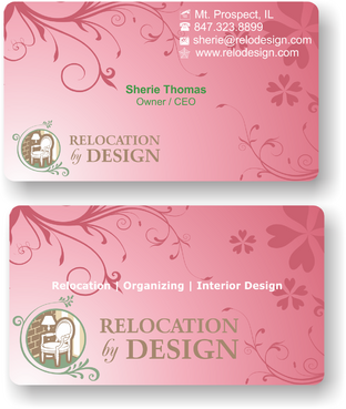 Business card for senior move management company Business Cards and Stationery  Draft # 77 by riyaz