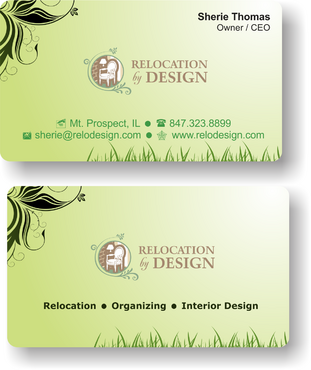 Business card for senior move management company Business Cards and Stationery  Draft # 78 by riyaz