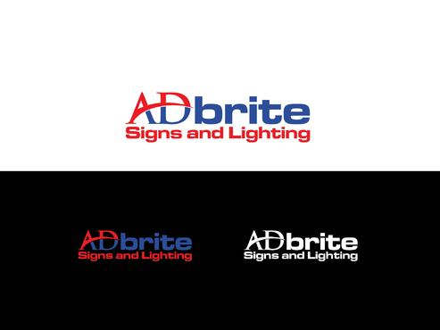 ADbrite Signs and Lighting  A Logo, Monogram, or Icon  Draft # 17 by BloomingLogo