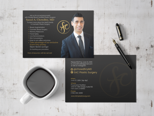 SAC Plastic Surgery Chicago Business Cards and Stationery  Draft # 31 by einsanimation