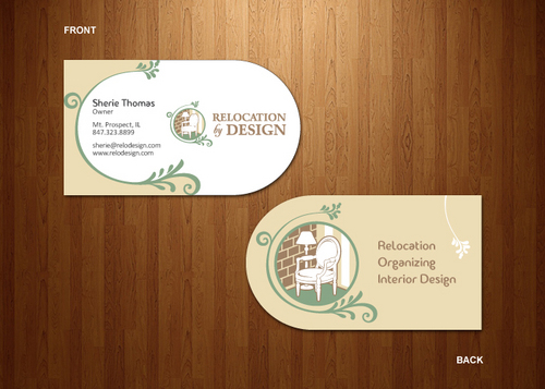 Business card for senior move management company Business Cards and Stationery  Draft # 81 by dynamikdezyn