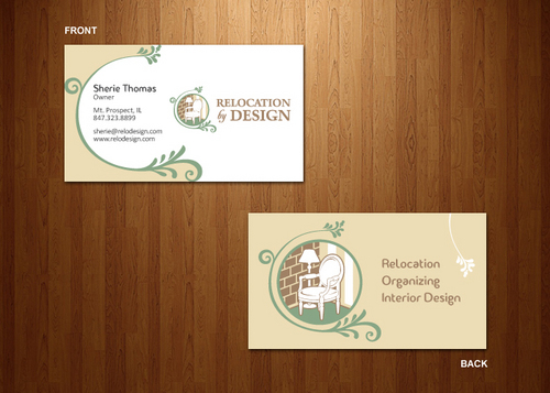 Business card for senior move management company Business Cards and Stationery  Draft # 83 by dynamikdezyn