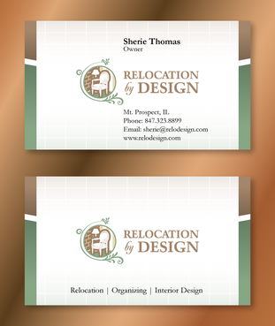 Business card for senior move management company Business Cards and Stationery  Draft # 100 by XtremeCreative2