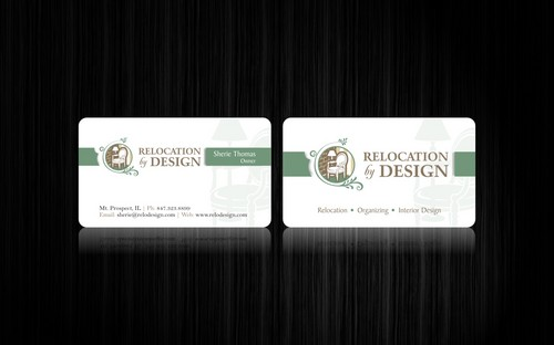 Business card for senior move management company Business Cards and Stationery  Draft # 105 by smartinfo