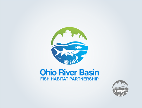 Ohio River Basin Fish Habitat Partnership or ORBFHP A Logo, Monogram, or Icon  Draft # 121 by pepin