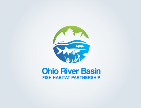 Ohio River Basin Fish Habitat Partnership or ORBFHP A Logo, Monogram, or Icon  Draft # 122 by pepin