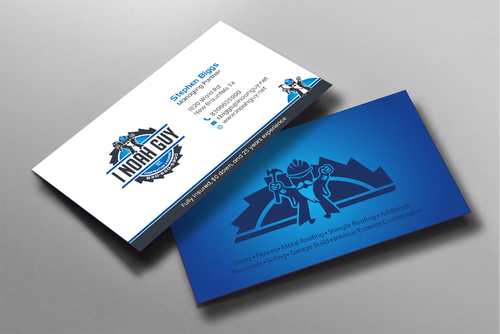 Design by einsanimation For I Noah Guy LLC business cards