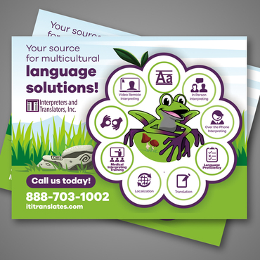 Design by Kaiza For Advertisement for a Language Solutions Company
