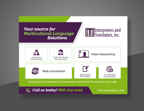 Design by Achiver For Advertisement for a Language Solutions Company