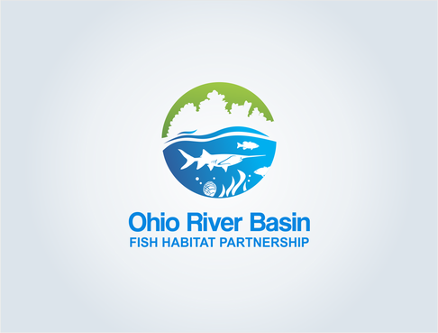Ohio River Basin Fish Habitat Partnership or ORBFHP A Logo, Monogram, or Icon  Draft # 123 by pepin