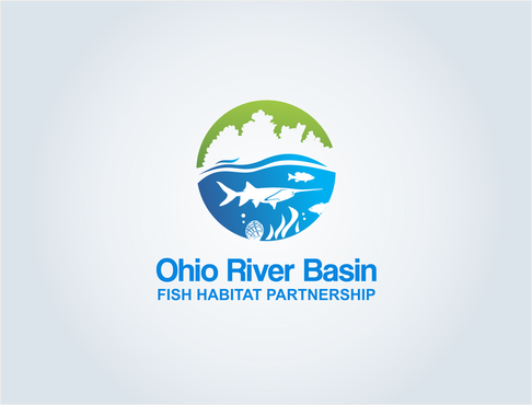 Ohio River Basin Fish Habitat Partnership or ORBFHP A Logo, Monogram, or Icon  Draft # 124 by pepin