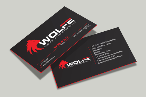 Design by Rachid2014 For business card for new fabrication shop