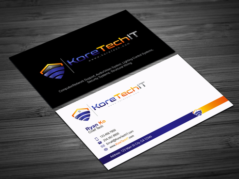 Design by Rachid2014 For Business Card for IT Service  Company