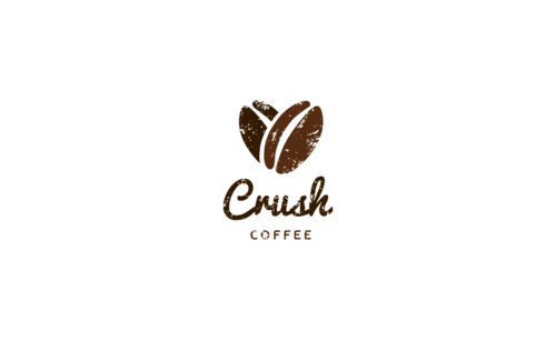 crush coffee (coffee doesn't have to appear if represented as a cup etc.)