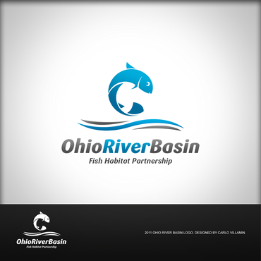 Ohio River Basin Fish Habitat Partnership or ORBFHP A Logo, Monogram, or Icon  Draft # 137 by carlovillamin