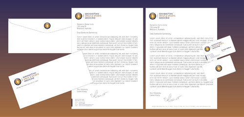 Letterhead, stationary and card design