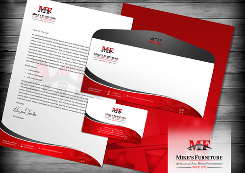 Stationary, Letterhead, Business Cards, Envelopes Business Cards and Stationery  Draft # 120 by designbe
