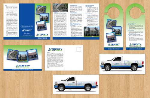 Brochures and truck wrap Marketing collateral  Draft # 1 by jameelbukhari