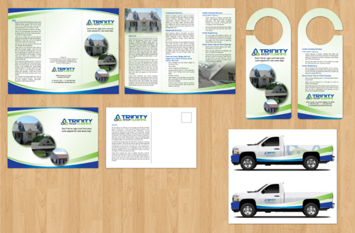 Brochures and truck wrap Marketing collateral  Draft # 2 by jameelbukhari