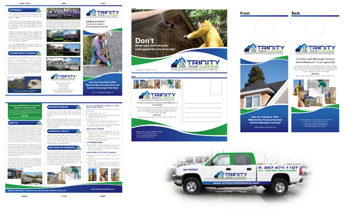 Brochures and truck wrap Marketing collateral  Draft # 12 by XtremeCreative2