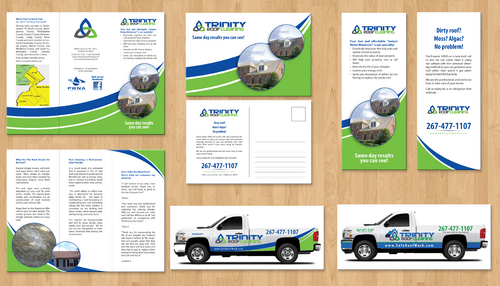 Brochures and truck wrap Marketing collateral  Draft # 14 by jameelbukhari