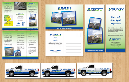 Brochures and truck wrap Marketing collateral  Draft # 37 by jameelbukhari
