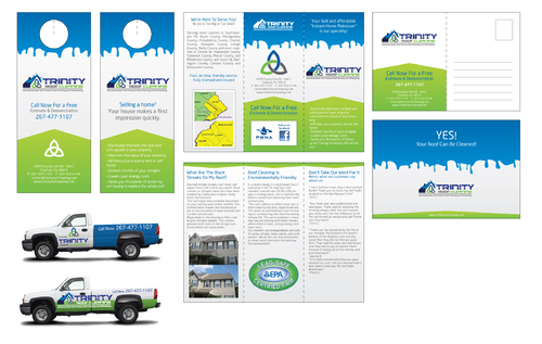 Brochures and truck wrap Marketing collateral  Draft # 44 by Blindpilotdesign