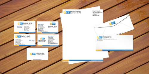 business cards, letter head, envelopes, fax sheet and shipping label
