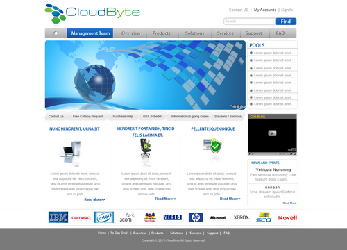 CloudByte Web Site Template