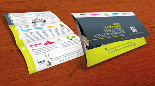 Brochure Design 2011 Marketing collateral Winning Design by EleVen711