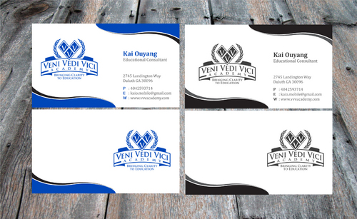 Bringing Clarity To Education Business Cards and Stationery  Draft # 19 by Achiver