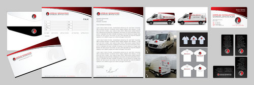 Business cards, letterheads, envelopes, Sprinter Van decaling, shirts