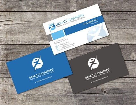 impact cleaning businesss card and stationery