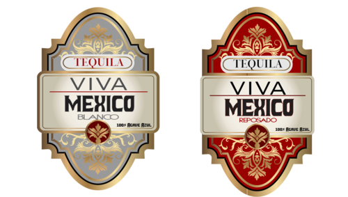Traditional yet elegant tequila label