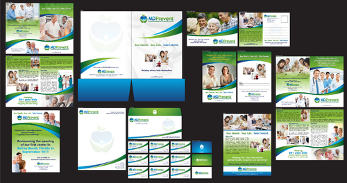 Brochures, flyers, postcards, folder, stationary, business cards