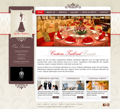 Custom Tailored Events Website Web Design  Draft # 10 by Cr8tiveMedia