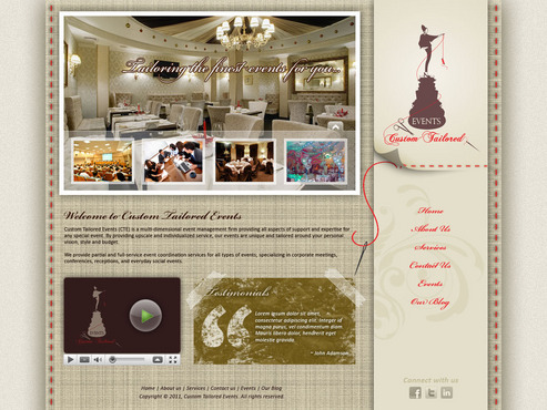 Custom Tailored Events Website Web Design  Draft # 69 by saeedrafay