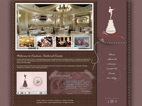 Custom Tailored Events Website Web Design  Draft # 72 by saeedrafay