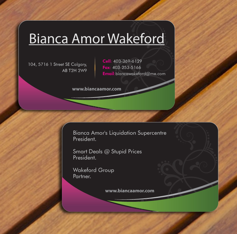 Personal logo & business cards - Retailers