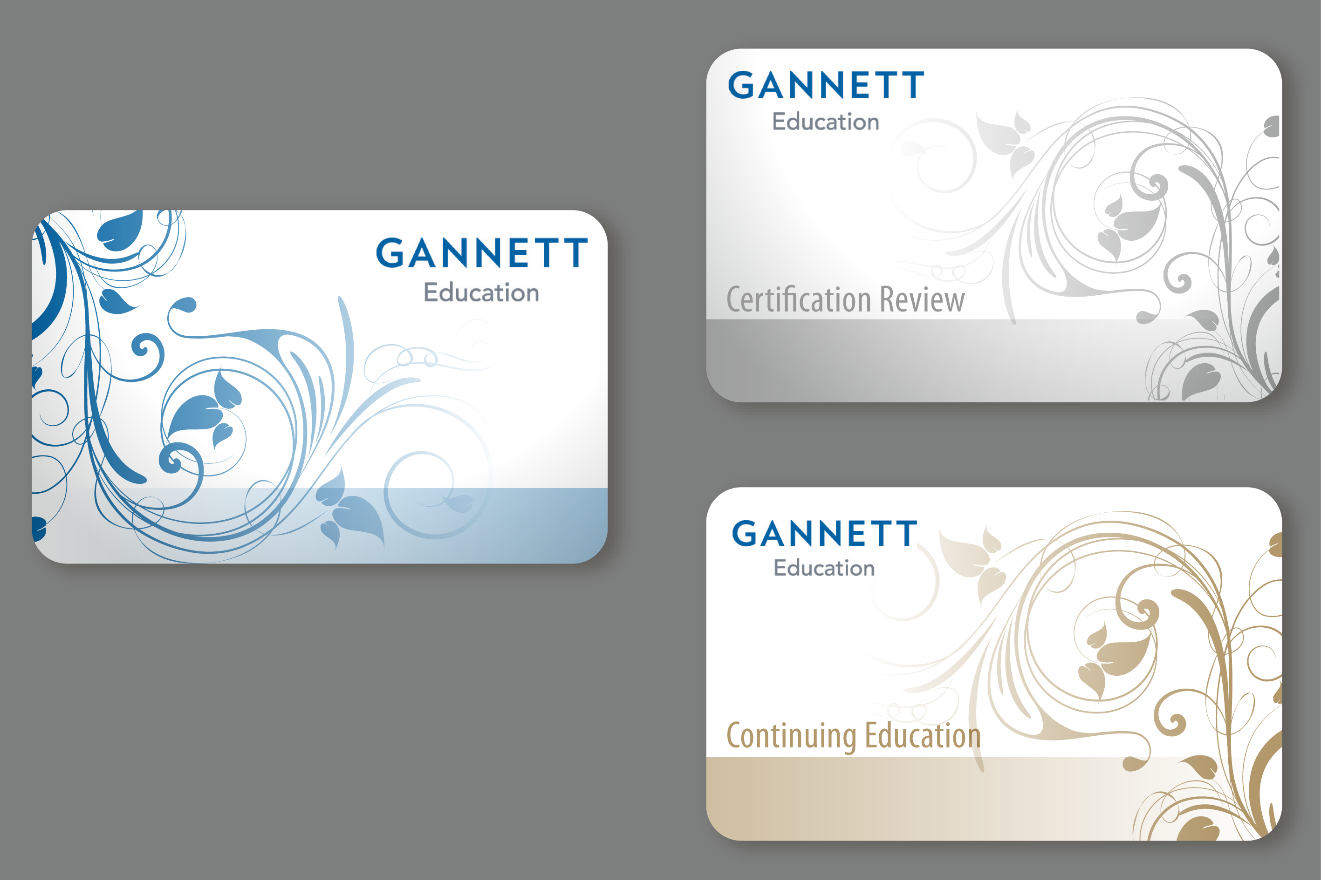 3 gift card designs for healthcare education company - Health
