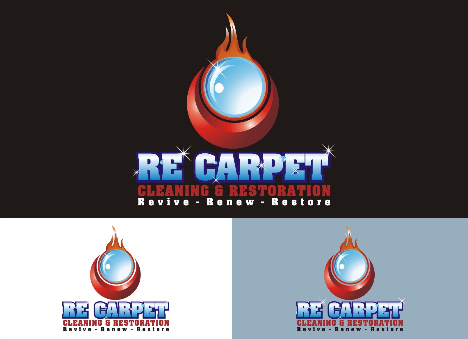Business Logo-RE Carpet Cleaning & Restoration - Cleaning Logo