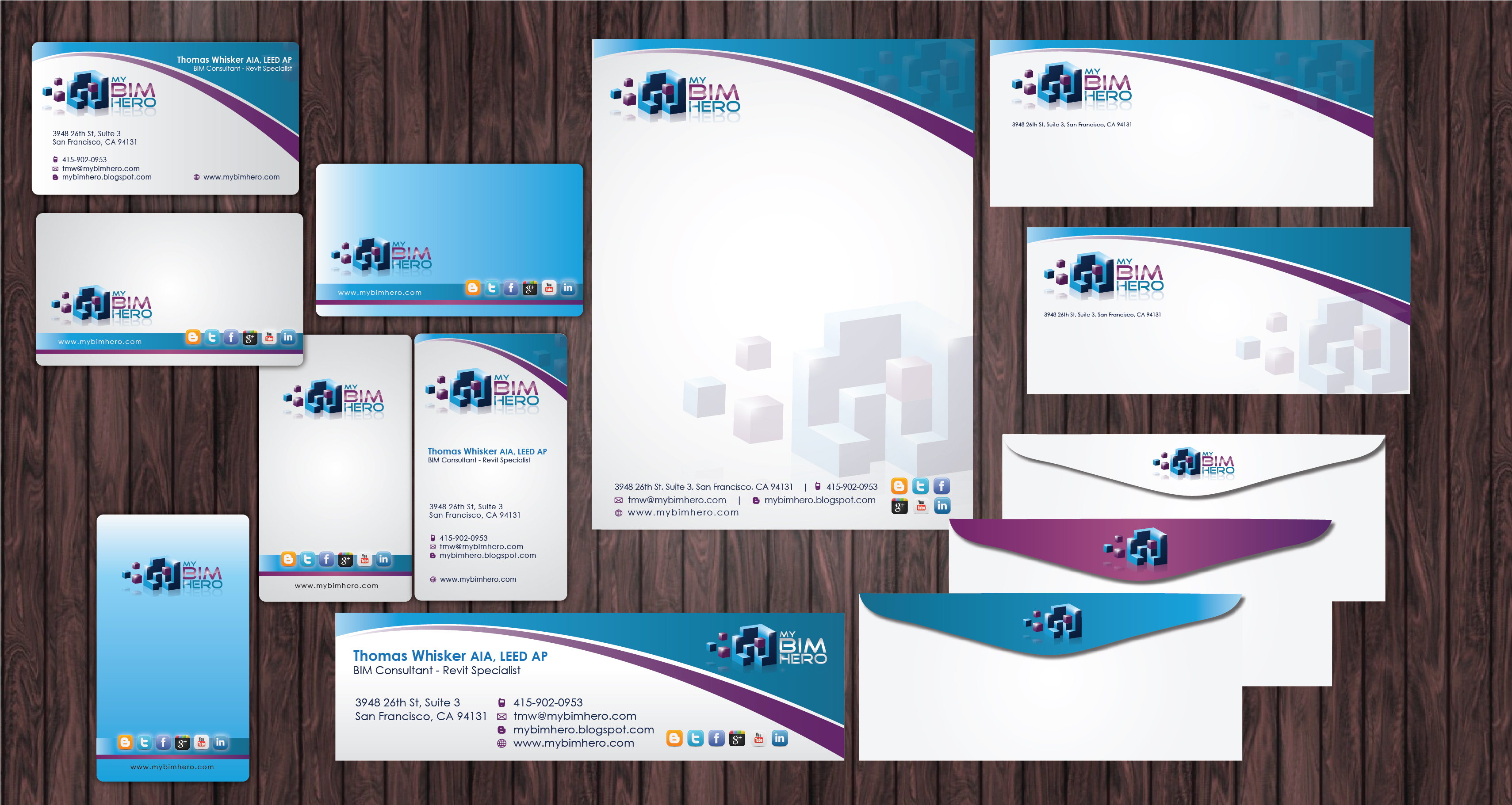 Biz Cards, email signature and stationery - Consulting
