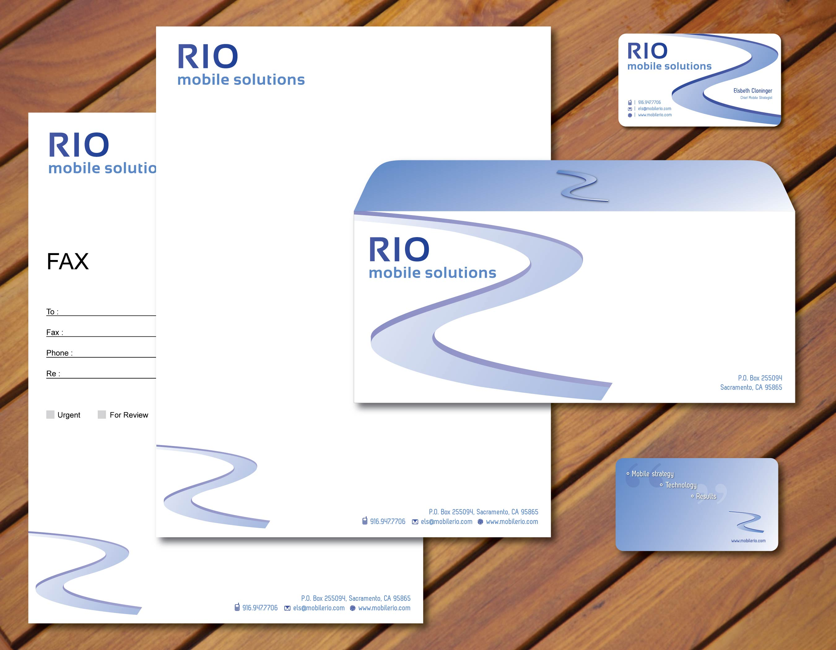 Branding package, RIO Mobile Solutions - Marketing