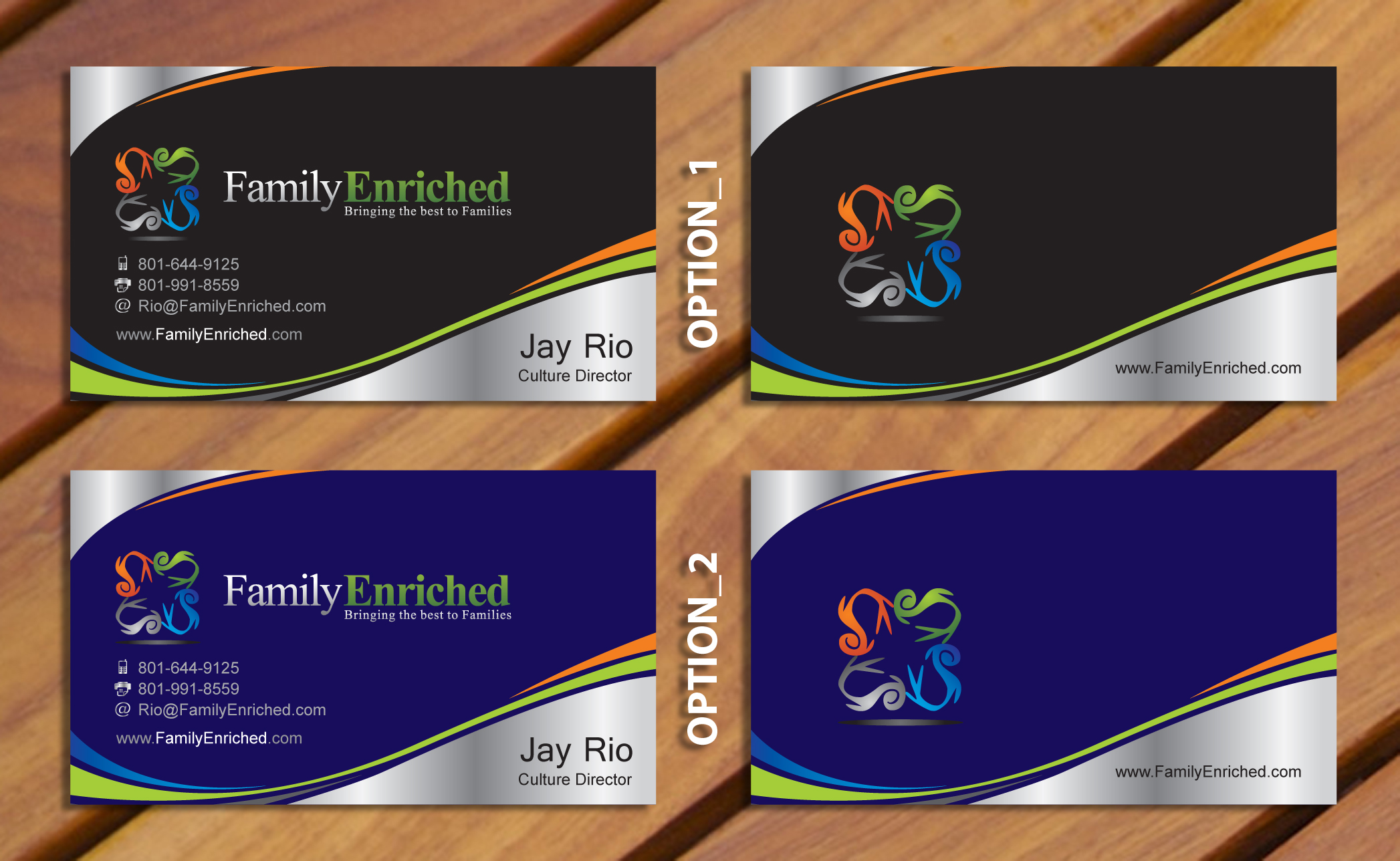 Family Enriched Business Card - Events