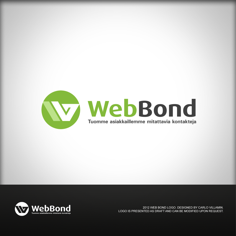 Business logo, name: Web Bond Oy - Internet Services Logo