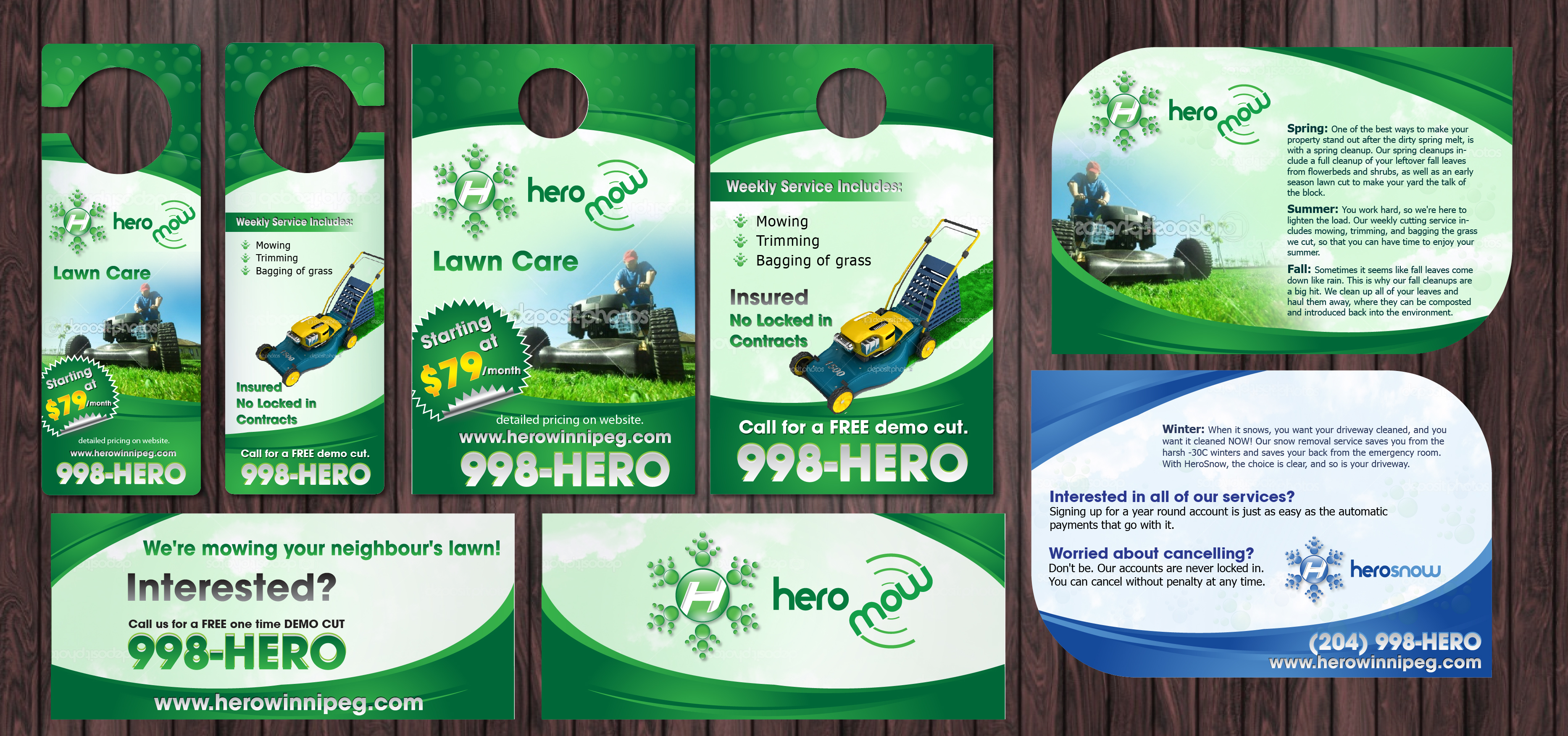 HeroSnow/HeroMow Marketing Materials - Construction