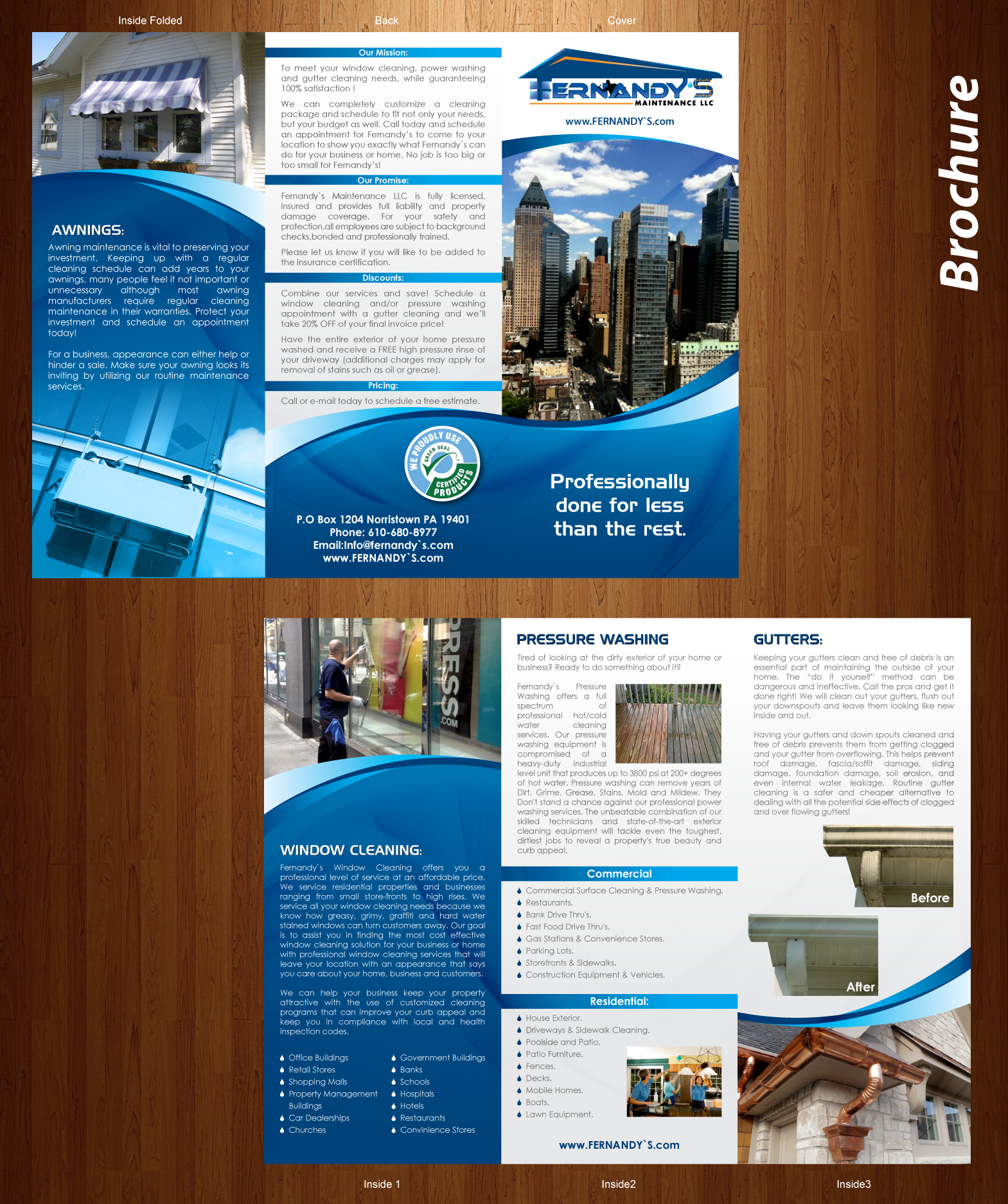 New Brochures Fernandy`s Maintenance LLC - Cleaning